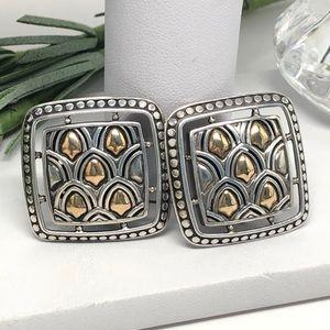 John Hardy Naga Earrings 925 / 18K